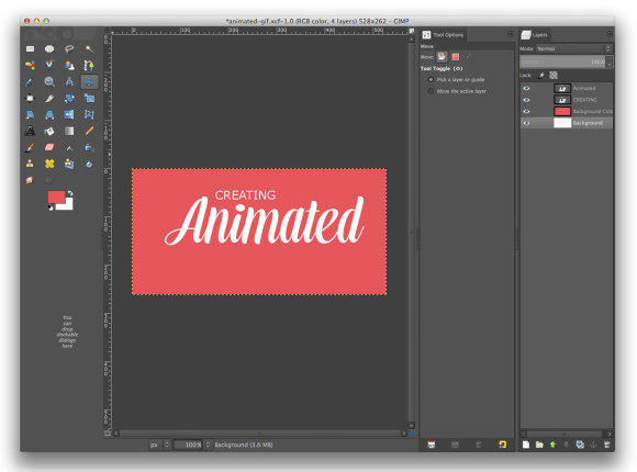 Animated Gif Composition Text Layer