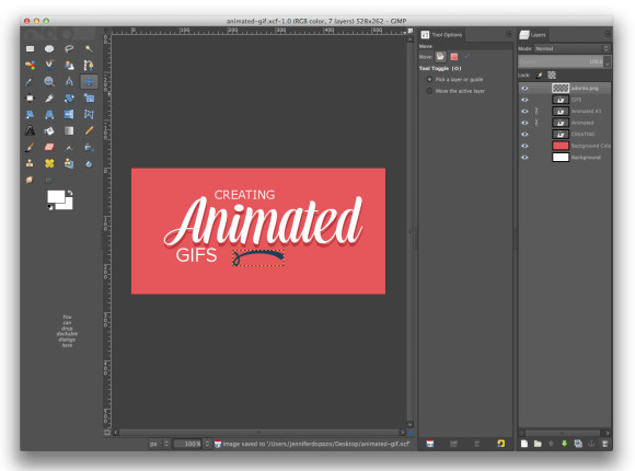 Animated Gif Composition Ornament Layer