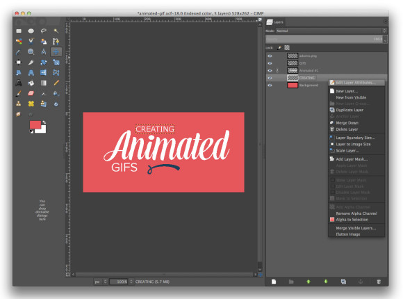 Gimp Animated Gif Composition Layer Attributes
