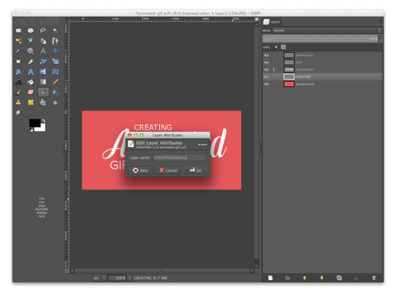 Gimp Animated Gif Composition Layer Attributes ms